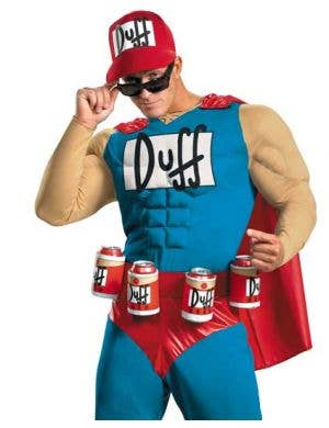 The Simpsons - Duffman Plus Size Muscle Chest Costume