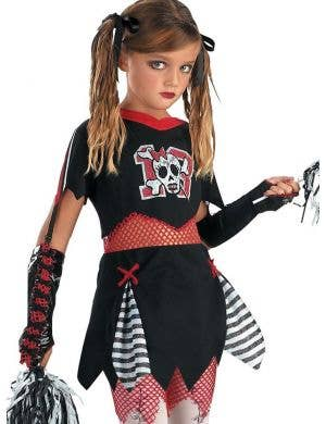 Cheerless Leader Tween Girls Cheerleader Halloween Costume