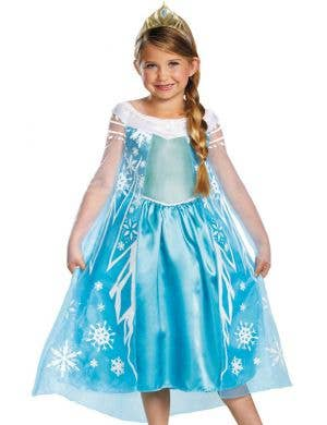 Frozen - Girls Elsa Fancy Dress Costume