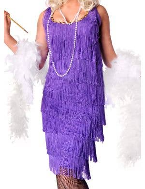 Long Purple Women's 1920's Flapper Costume