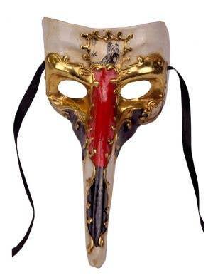 Long Nose Venetian Decal Masquerade Mask