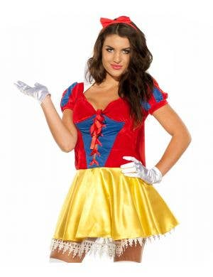 Sexy Snow White Women's Fairytale Fancy Dress Costume