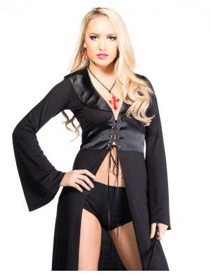 Gothic Medieval Black Robe Halloween Costume