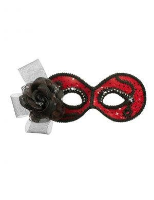 Glittering Senorita Red Masquerade Mask