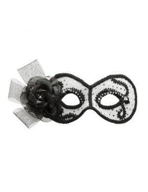 Glittering Senorita Silver and White Masquerade Mask