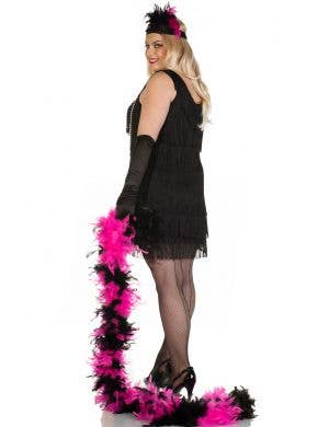 20's Swanky Plus Size Black Flapper Dress Costume