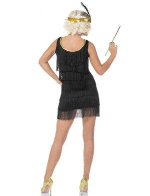 20's Swanky Deluxe Black Flapper Dress Costume