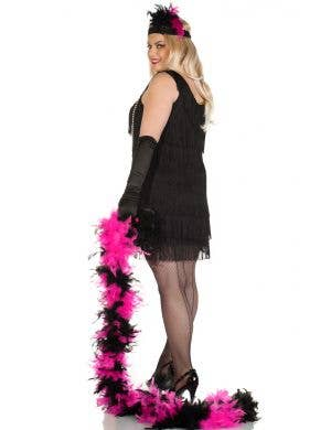 20's Swanky Plus Size Black Flapper Dress Costume