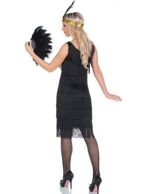 1920's Miss Millie Long Black Flapper Costume