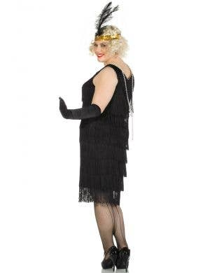 1920's Miss Millie Long Black Plus Size Flapper Costume