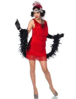 20's Ritzy Red Flapper Sexy Women's Costume