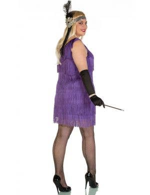 Speakeasy Plus Size 1920's Purple Flapper Costume