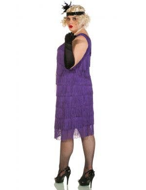 Chicago Long 1920's Purple Plus Size Flapper Costume