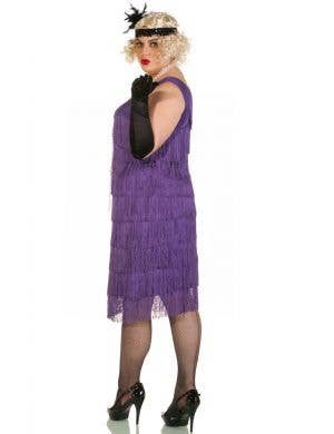 Chicago Long 1920's Purple Plus Size Flapper Costume