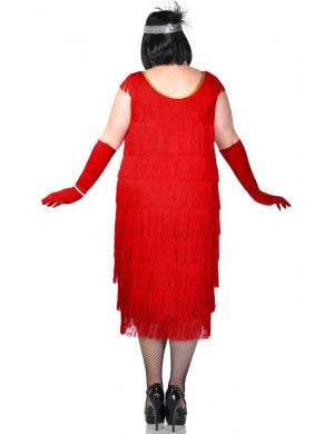 20's Roaring Red Flapper Plus Size Sexy Costume