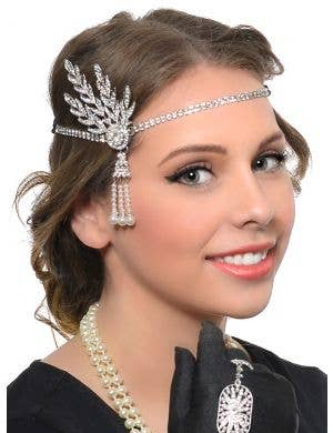 Rhinestones and Pearls Deluxe 5 Piece Gatsby Accessory Set