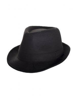 1920's Women's Gangster Black Trilby Costume Hat