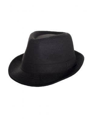 1920's Women's Gangster Black Trilby Costume Hat