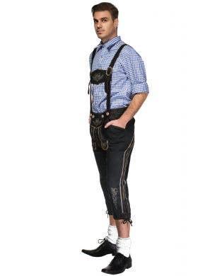 Bavarian Bjorn Men's Deluxe Lederhosen Oktoberfest Costume