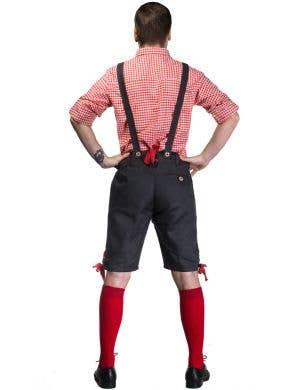Alpine Hans Men's Deluxe Lederhosen Oktoberfest Costume