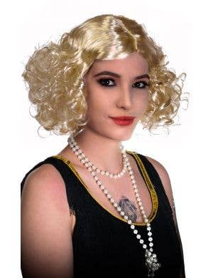 1930's Movie Star Blonde Flapper Wig