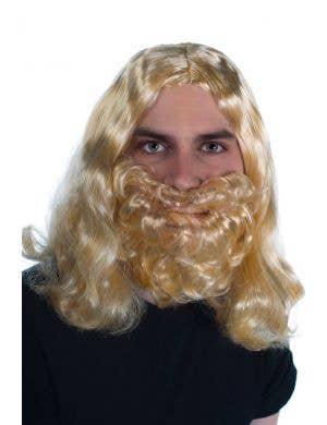 Bushy Beard and Blonde Wig Costume Accessory Set
