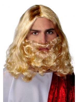 Bushy Beard and Wig Set - Blonde
