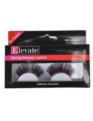 Tinsel Black and Pink False Eyelashes