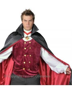 Count Bloodthirst Vampire Men's Halloween Costume