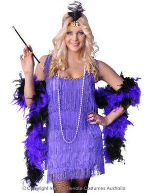 Purple Flapper Dress Women's 1920's Costume