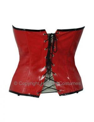 High Shine Stretch Corset Black/Red