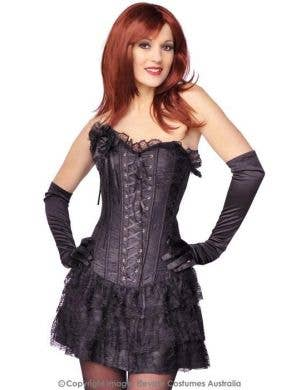 Spanish Skirted Women's Sexy Black Corset
