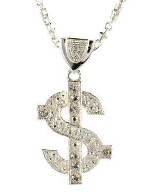 ... Bling Deluxe Silver Dollar Sign Gangster Necklace c782a0cb7c