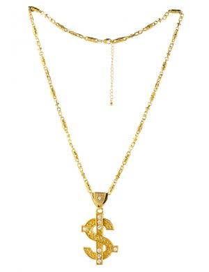 Bling Dollar Sign Deluxe Gold Necklace