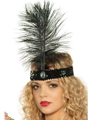 1920's Flapper Headband - Black