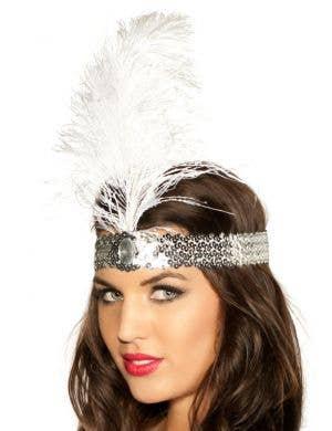 1920's Flapper Headband - White
