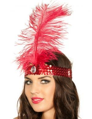 1920's Flapper Headband - Red