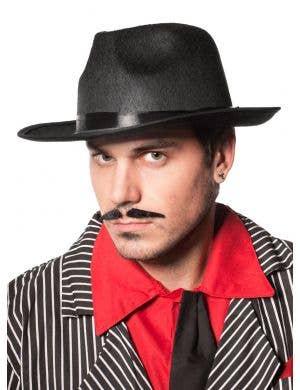 Gangster 1920's Fedora Hat in Black