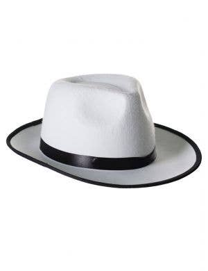 1920's Gangster Fedora Hat - White