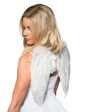 Feather Angel Wings in White - Mini