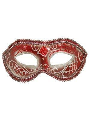 Unisex Mardi Gras Masquerade Mask - Red