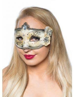 Edwardian Adult's Masquerade Mask - Black