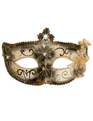 Edwardian Adult's Masquerade Mask - Black