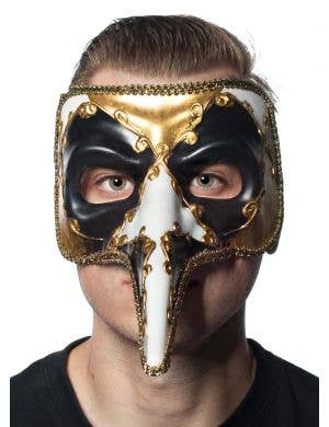 Long Nose Men's Venetian Jester Masquerade Mask