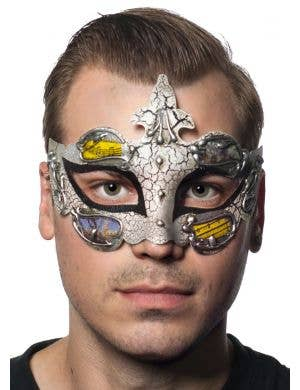 Baroque Men's Black Masquerade Mask