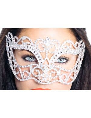 Deluxe Crystal Swirls Masquerade Mask