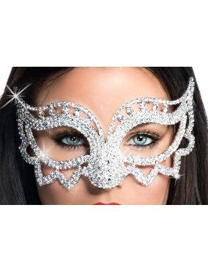 Deluxe Crystal Points Masquerade Mask