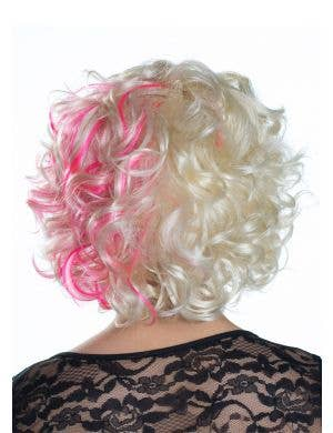 Nicki Blonde and Pink Curly Deluxe Fashion Wig
