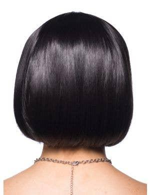 Lucine Deluxe Black Bob Wig with V Fringe