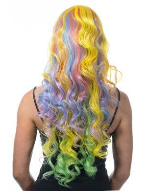 Ella Pastel Rainbow Deluxe Curly Wig